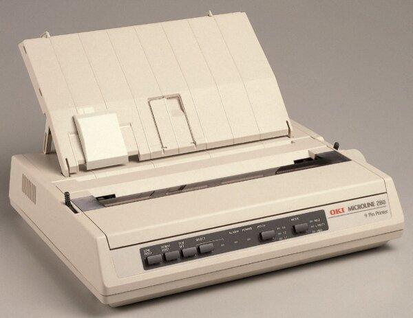 OKI Microline 280 ML280 Nadeldrucker Matrixdrucker Waagendrucker ser+par #041