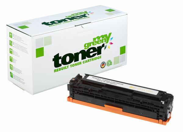 Rebuilt Toner Kartusche für: HP 716Y / 1977B002 / CB542A / 125A 1400 S