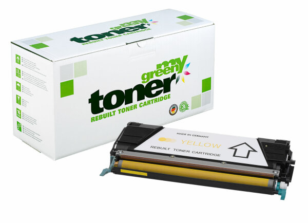 Rebuilt Toner Kartusche für: Lexmark C736H1YG / 24B5806 10000 Seiten