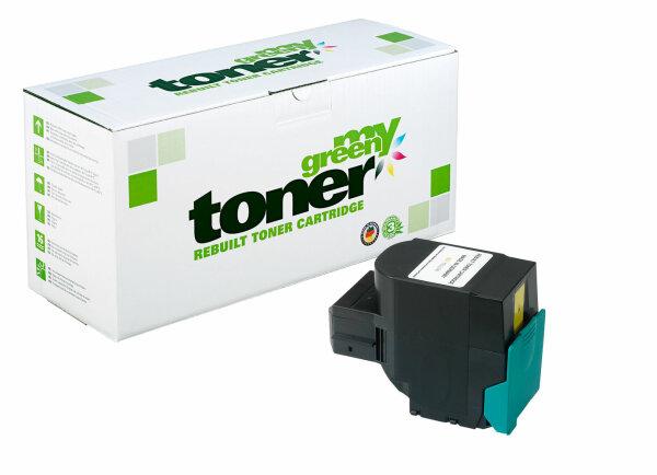 Rebuilt Toner Kartusche für: Lexmark C540H1YG 2000 Seiten