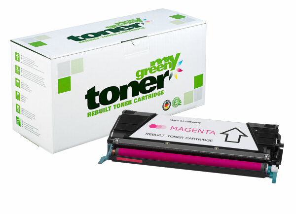 Rebuilt Toner Kartusche für: Lexmark C734A1MG 6000 Seiten