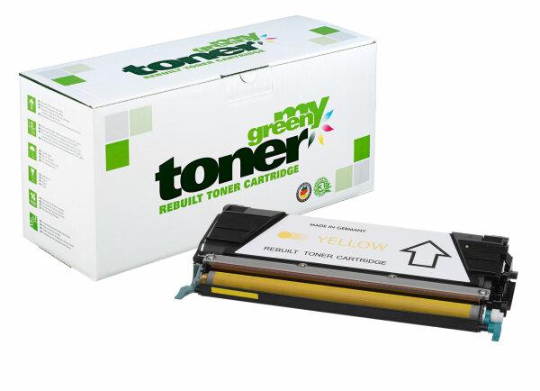 Rebuilt Toner Kartusche für: Lexmark C734A1YG 6000 Seiten
