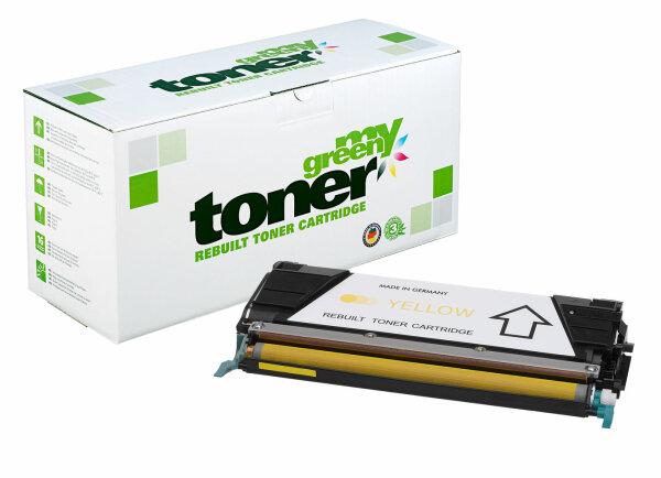 Rebuilt Toner Kartusche für: Lexmark C746A1YG / X746A1YG 7000 Seiten
