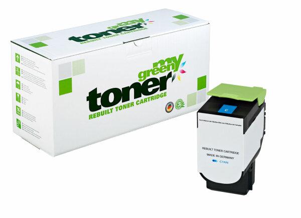 Rebuilt Toner Kartusche für: Lexmark 80C2SC0 / 802SC 2000 Seiten