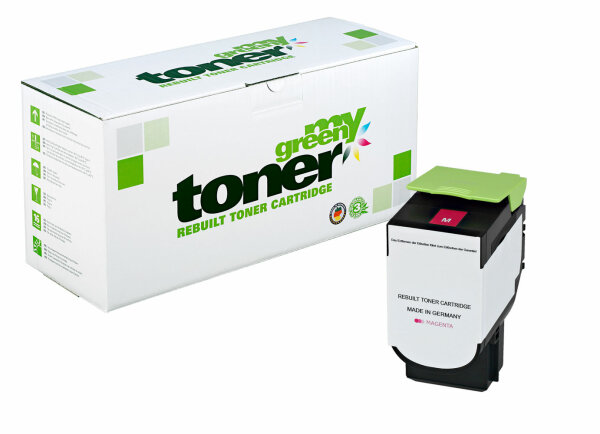 Rebuilt Toner Kartusche für: Lexmark 80C2SM0 / 802SM 2000 Seiten