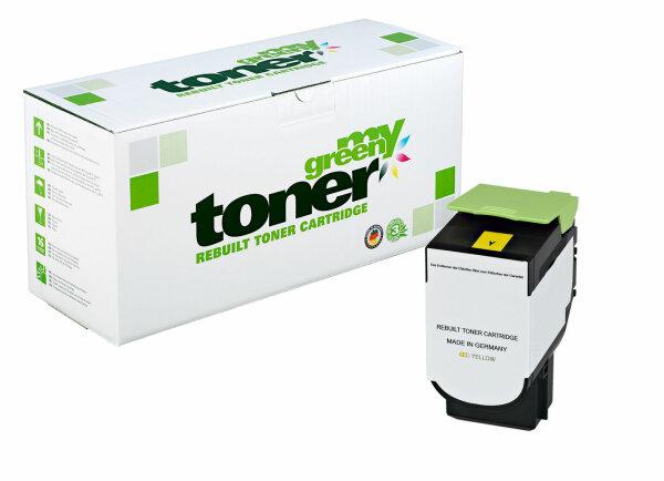 Rebuilt Toner Kartusche für: Lexmark 80C2SY0 / 802SY 2000 Seiten