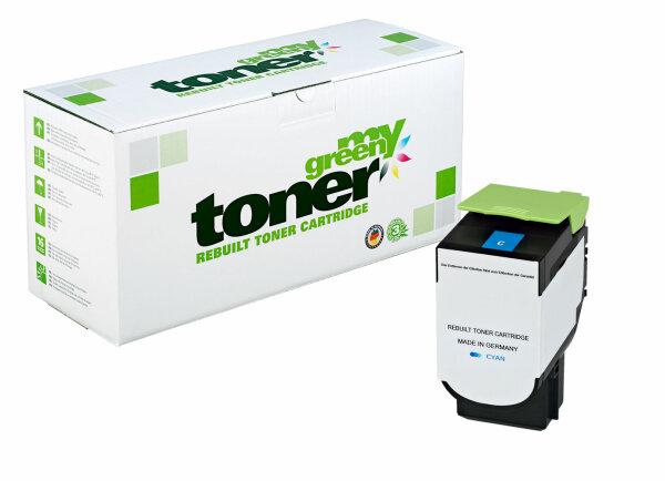 Rebuilt Toner Kartusche für: Lexmark 80C2HC0 / 802HC 3000 Seiten