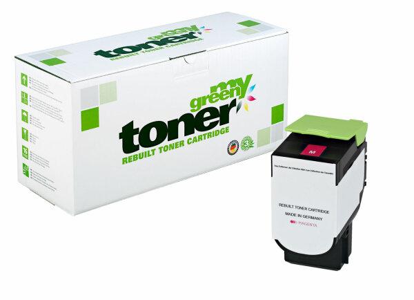 Rebuilt Toner Kartusche für: Lexmark 80C2XM0 / 802XM 4000 Seiten