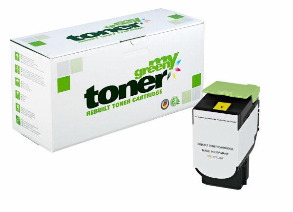 Rebuilt Toner Kartusche für: Lexmark 80C2XY0 / 802XY 4000 Seiten